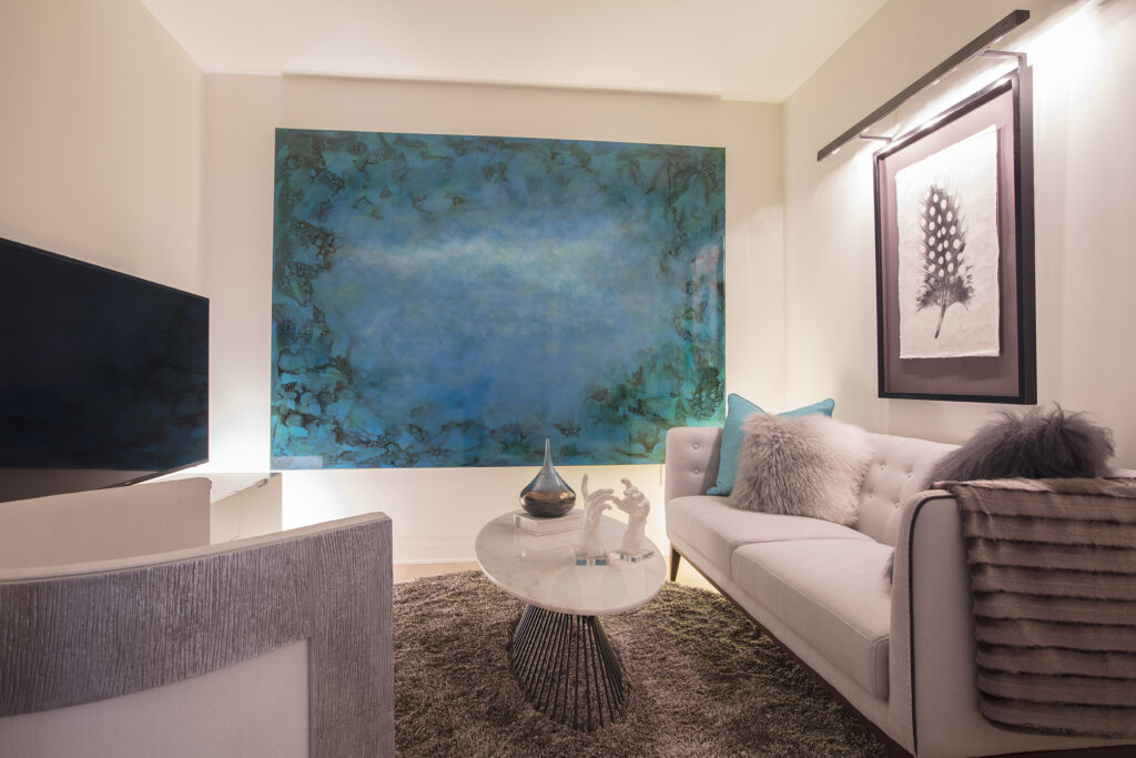 contemporary - living room - georgetown interior - interior designer - high contrast - gallery art interior - acrylic table - family room design - abstract art - high end design - luxury homes - condo design - bold color - impactful art